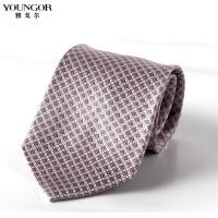 YOUNGOR雅戈尔桑蚕丝真丝领带 男士商务正装 职业西装领带YB09036