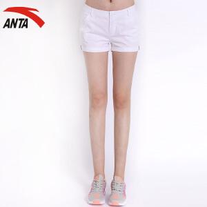 安踏女装运动短裤热裤 夏季简约梭织休闲时尚女运动短裤16628301