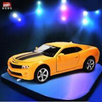 美致MZ 合金车模型仿真雪佛兰大黄蜂 儿童回力玩具小汽车模型玩具