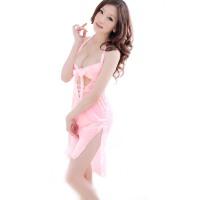 女春夏季 蕾丝诱惑情趣内衣前绑带性感睡衣吊带睡裙