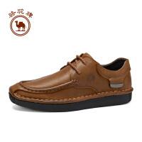 骆驼牌男鞋 秋季复古系带手工缝线鞋男士耐磨休闲鞋舒适