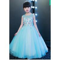 儿童礼服公主裙夏季婚纱长裙女童连衣裙走秀钢琴演出服花童裙