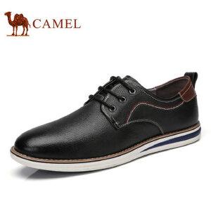 camel骆驼男鞋 2017新款休闲皮鞋 牛皮男士潮流 品质舒适男鞋