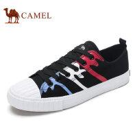 camel骆驼男鞋 春季系带鞋舒适帆布鞋 轻便学院风休闲鞋