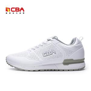 【618狂嗨继续】CBA男子休闲鞋 2017新款男士轻便防滑舒适运动休闲鞋跑步鞋男