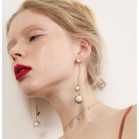 韩版时尚大气耳饰品个性流苏耳坠仿珍珠耳环耳线 女长款气质吊坠