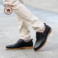 骆驼牌男鞋 2017新款舒适耐磨日常休闲男皮鞋柔软时尚男鞋