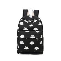 芭特莉【支持礼品卡支付】韩版女包新款背包帆布双肩包潮女学院风中学生书包压花 女士旅行包包
