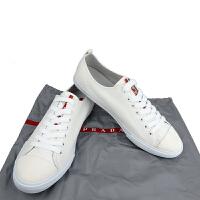 Prada白色布面男士系带鞋4E2 927 8.5码