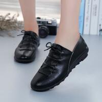 春季新款小皮鞋女鞋英伦百搭休闲鞋系带低帮驾车鞋子女式潮鞋青春