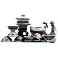 哥窑整套茶具套装 德化瓷开片功夫茶具陶瓷紫砂茶壶茶杯礼品套件