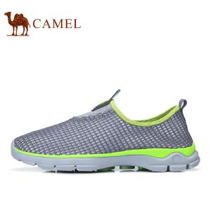 camel骆驼户外情侣鞋 男女鞋透气速干网鞋舒适户外休闲徒步网鞋