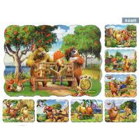 儿童卡通动漫益智拼图熊出没纸质40片拼图宝宝智力玩具全8张