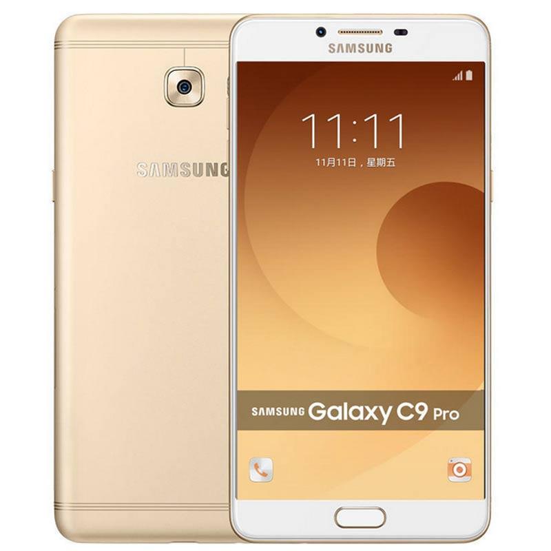 【三星手机旗舰店】三星 Galaxy C9 Pro(C9000)6GB+64GB 枫叶金 全网通 4G手机 双卡双待非全屏钢化膜+保护壳+精美三件套+指环支架