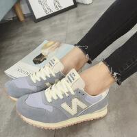 新百伦阿迪 春夏新款新款磨砂N字鞋明星同款潮流韩版鞋女士轻便增高鞋
