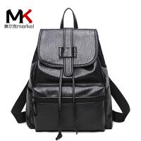 莫尔克(MERKEL)双肩包女韩版甜美学院风包包2017新款旅行包背包女时尚休闲书包女包