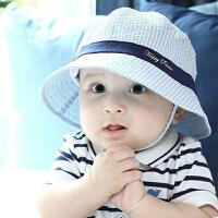 Yinbeler婴儿遮阳帽春夏6-12个月男宝宝帽子太阳帽盆帽防晒帽凉帽沙滩帽儿童渔夫帽