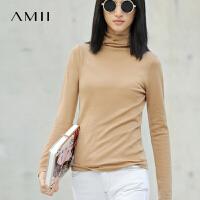 【AMII】[极简主义]女装春装新款潮修身套头打底高领针织衫毛衣冬