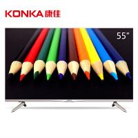 【当当自营】康佳(KONKA)M55U 55英寸 18核双64位真4K超高清智能平板LED液晶电视(金色)
