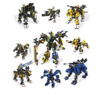 积木变形机器人高达模型男孩拼装玩具独角兽能天使圣兽武装圣兽狮王小颗粒乐高兼容礼物