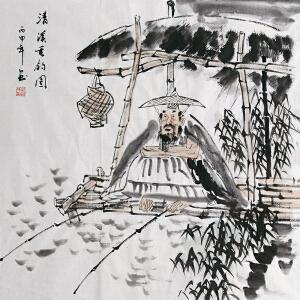 刘郑功(清溪垂钓图1)中国国画家协会会员