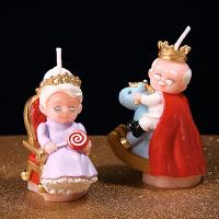 孩派 生日蜡烛 老寿星国王皇后蜡烛 送爸妈爷爷奶奶金婚银婚礼物