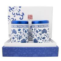 青花舞茶 台湾阿里山高山茶罐装礼盒150g*2入 台湾进口乌龙茶茶叶