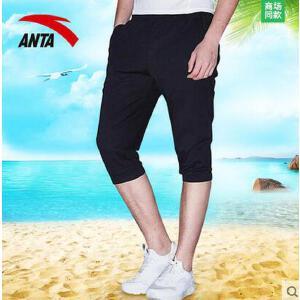 安踏男装七分裤 2017夏季新款休闲舒适针织透气运动短裤15727782