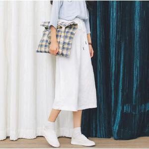 【当当年中庆】森系春夏系带七分阔腿裤