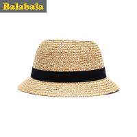 巴拉巴拉童装女童帽子儿童时尚帽童帽2017夏季新款休闲帽子