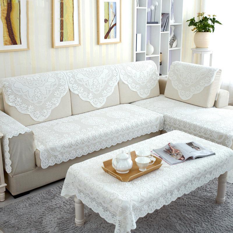 现代布艺沙发套靠背巾扶手巾盖巾纯色家用沙发坐垫商务装饰创意家饰
