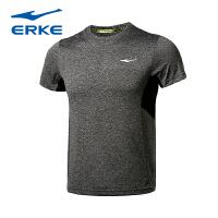 鸿星尔克男运动短袖T恤夏季新款速干训练透气排汗圆领快干跑步服