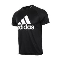 Adidas阿迪达斯  男子运动训练休闲健身短袖T恤  BK0937/S98730  现