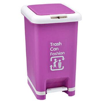 家庭用卫生间厨房垃圾桶 脚踏手动两用垃圾桶 有盖垃圾桶 环保清洁桶