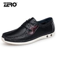 【断码特惠】Zero零度休闲鞋男夏季缝制鞋复古擦色圆头休闲皮鞋男H62006