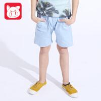小猪班纳童装男童短裤夏纯棉中大童儿童裤子男夏季薄款2017新款
