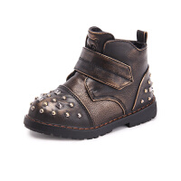木木屋童鞋冬季新款女童低筒短靴 儿童马丁靴潮男童加绒靴子