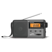 【当当自营】 熊猫/PANDA T-04灰色 锂电池充电插卡全波段收音机老年人半导体便携式