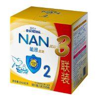 【当当自营】雀巢能恩2段升级配方初生婴儿配方奶粉3联包3x400g/盒