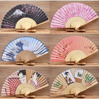 女式折扇日式和风扇摆件樱花富士山绢布扇子日本餐厅酒店用品摆件1