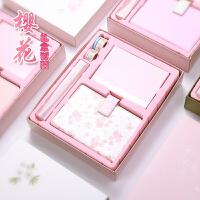 日式小清晰樱花手账本礼盒套装 创意唯美活页记事本 DIY日程计划本