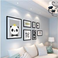 现代简约实木照片卧室背景墙 客厅相片墙 北欧式相框挂墙组合