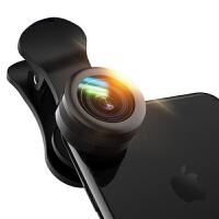 【礼品卡】手机镜头广角微距鱼眼三合一单反拍照套装iphone通用外置摄像头iphone7 6plus镜头 黑色