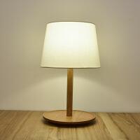 MUJI无印良品实木台灯 北欧实木卧室床头灯 现代简约LED节能台灯