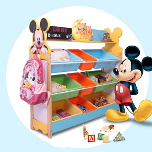 御目 儿童收纳 实木质儿童玩具收纳架幼儿园宝宝环保卡通置物盒储物柜箱整理架子柜子 创意家具
