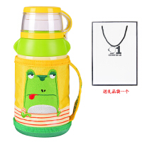 杯具熊(beddybear)保温杯儿童水壶带吸管宝宝男女学生婴儿便携防漏水杯子 儿童杯