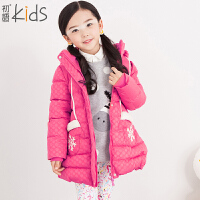 初语童装 2016冬装新款儿童羽绒服 加厚纯色羽绒服外套 T5409200032