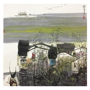 刘懋善《海边渔家》著名画家