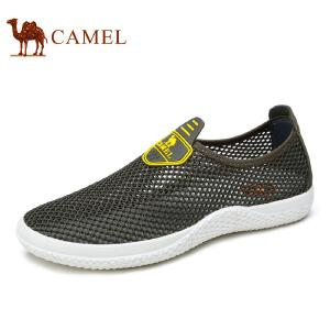 camel骆驼男鞋 2017春季新品 透气舒适低帮鞋户外休闲网布鞋