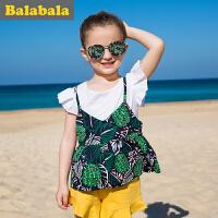 巴拉巴拉女童短袖T恤小童宝宝衣服2017夏季童装儿童半袖打底衫